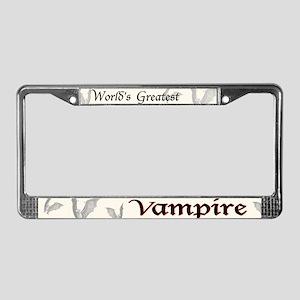 Greatest Vampire License Plate Frame
