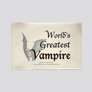 Greatest Vampire Rectangle Magnet
