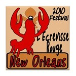 Red Crawfish Tile Coaster