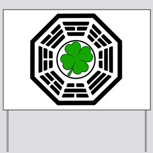 Dharma Initiative Shamrock Station Yard Sign