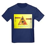 Happy Purim Kids Dark T-Shirt