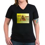 Happy Purim Women's V-Neck Dark T-Shirt