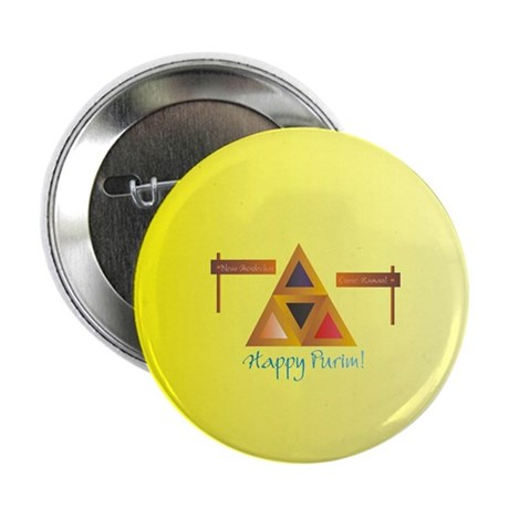 """Happy Purim 2.25"""" Button (10 pack)"""