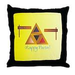 Happy Purim Throw Pillow