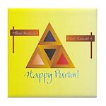 Happy Purim Tile Coaster