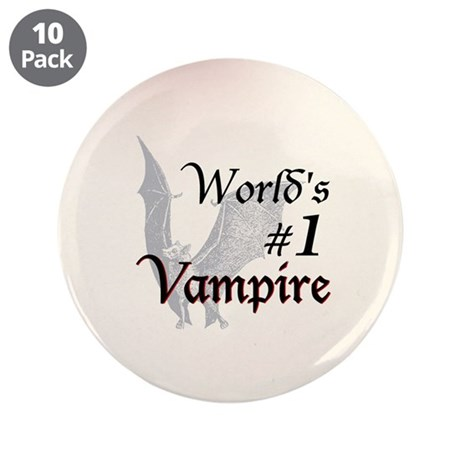 """#1 Vampire 3.5"""" Button (10 pack)"""