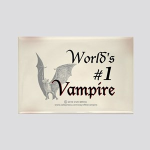 #1 Vampire Rectangle Magnet