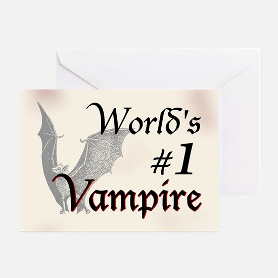 #1 Vampire Greeting Card