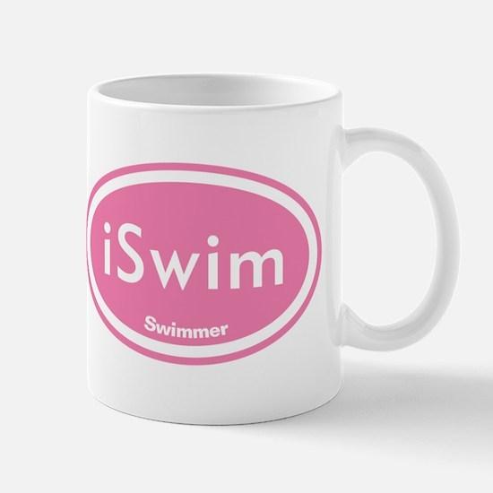 iSwim Pink Oval Mug