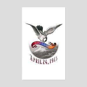 April 24, 1915 Sticker (Rectangular)