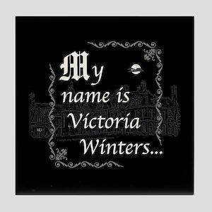 Victoria Winter B&W Tile Coaster