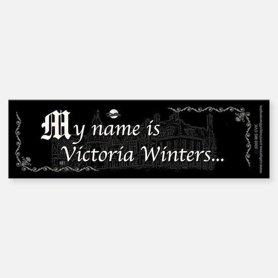 Victoria Winter B&W Sticker (Bumper)