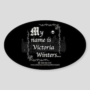 Victoria Winter B&W Sticker (Oval)
