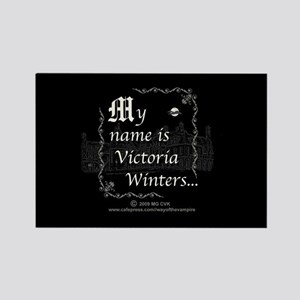 Victoria Winter B&W Rectangle Magnet