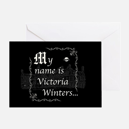 Victoria Winter B&W Greeting Card