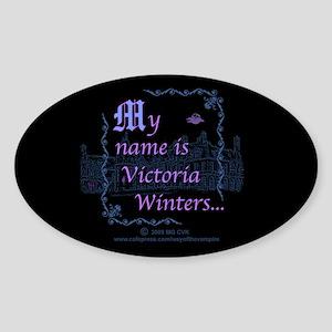 Victoria Winters Color Sticker (Oval)
