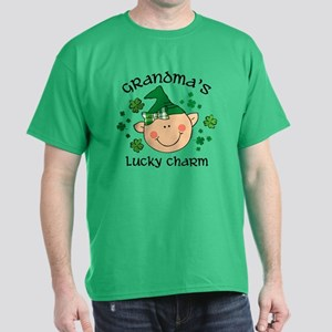 Grandma's Lucky Charm Girl Dark T-Shirt