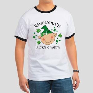 Grandma's Lucky Charm Girl Ringer T
