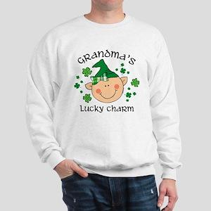 Grandma's Lucky Charm Girl Sweatshirt