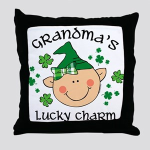 Grandma's Lucky Charm Girl Throw Pillow