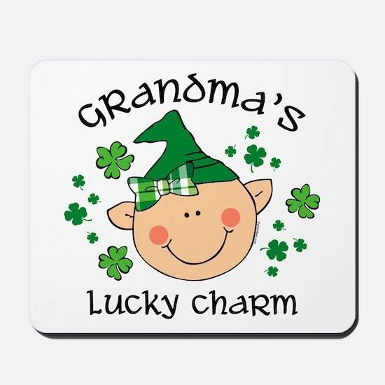 Grandma's Lucky Charm Girl Mousepad