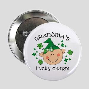 "Grandma's Lucky Charm Girl 2.25"" Button"