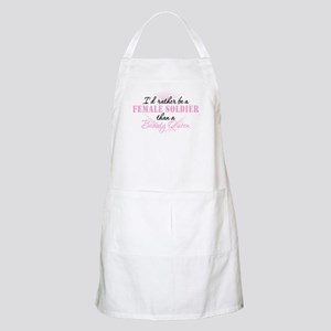 I'd Rather Be a Female Soldier Apron