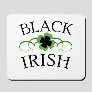 Black Irish with Fancy Shamrock Mousepad