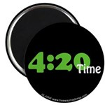 """4:20 Time 2.25"""" Magnet (10 pack)"""
