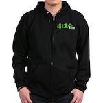 4:20 Time Zip Hoodie (dark)