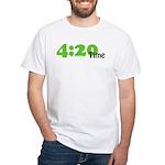 4:20 Time White T-Shirt