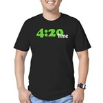 4:20 Time Men's Fitted T-Shirt (dark)
