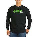 4:20 Time Long Sleeve Dark T-Shirt