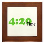 4:20 Time Framed Tile