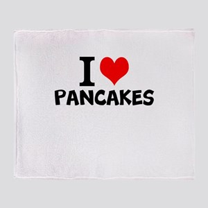 I Love Pancakes Throw Blanket