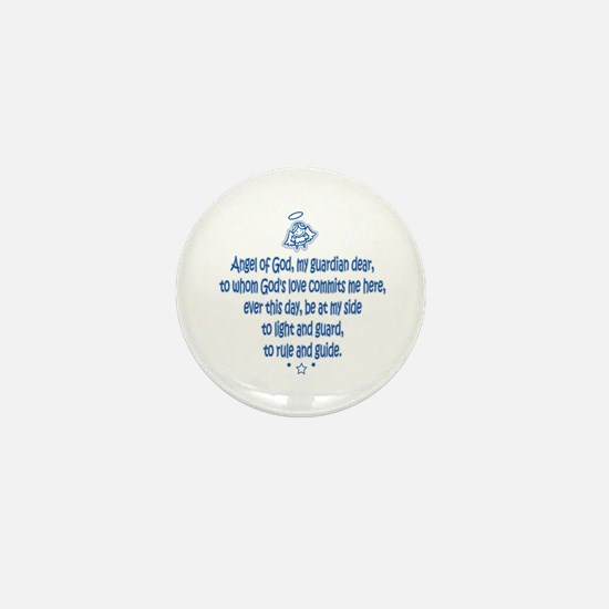 Guardian Angel Prayer 4 Mini Button