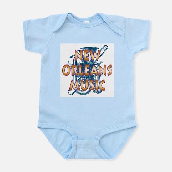 Gold New Orelans Music Infant Bodysuit