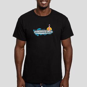 Assateague Island VA Men's Fitted T-Shirt (dark)