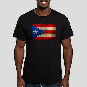 Puerto Rico Men's Fitted T-Shirt (dark)