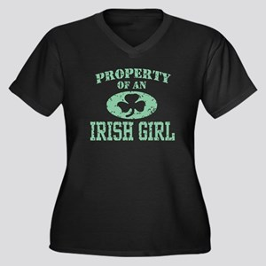 Property of an Irish Girl Women's Plus Size V-Neck