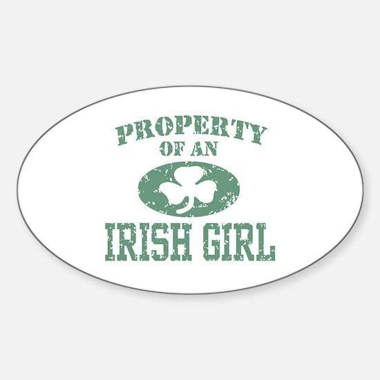 Property of an Irish Girl Sticker (Oval)