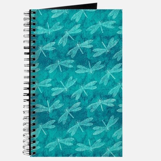 Blue Green Dragonfly Dance Journal