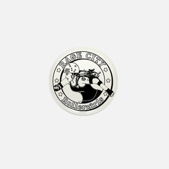 Funny Roller derby Mini Button