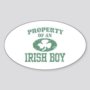 Property of an Irish Boy Sticker (Oval)