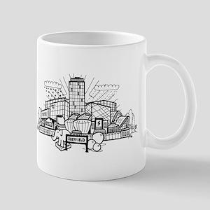 Cartoon View of Sheffield Mugs