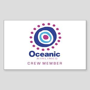 'Oceanic Airlines Crew' Sticker (Rectangle)