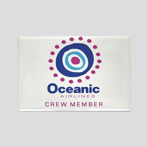 'Oceanic Airlines Crew' Rectangle Magnet