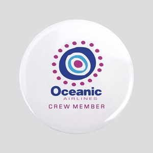 """'Oceanic Airlines Crew' 3.5"""" Button"""