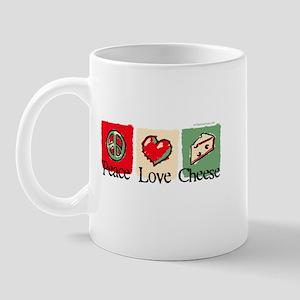 Peace, Love, Cheese Mug