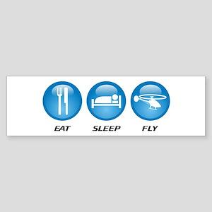 Eat Sleep Fly Sticker (Bumper)